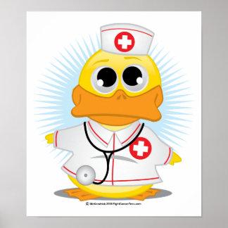 Nurse Duck Poster