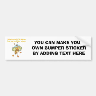 Nurse Earned Her Wings T-shirts and Gifts Car Bumper Sticker