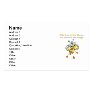 Nurse Earned Her Wings T-shirts and Gifts Double-Sided Standard Business Cards (Pack Of 100)