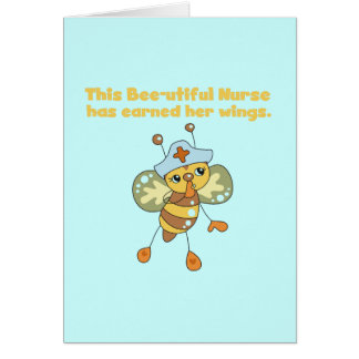 Nurse Earned Her Wings T-shirts and Gifts Greeting Card