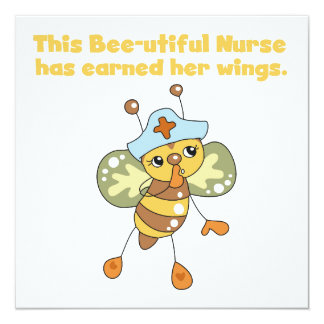 Nurse Earned Her Wings T-shirts and Gifts Invitation
