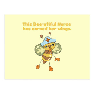 Nurse Earned Her Wings T-shirts and Gifts Postcard