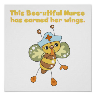 Nurse Earned Her Wings T-shirts and Gifts Print