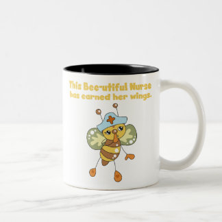 Nurse Earned Her Wings T-shirts and Gifts Two-Tone Coffee Mug