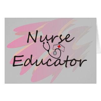 Nurse Educator Abstract Design Card
