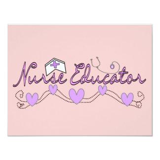 Nurse Educator Pink Hearts Design Card