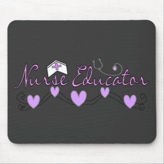 Nurse Educator Pink Hearts Design Mouse Pad