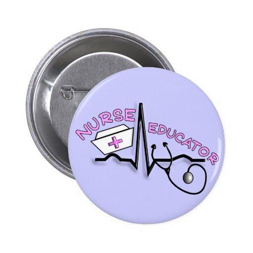 Nurse Educator QRS and Nurse Cap Design Button