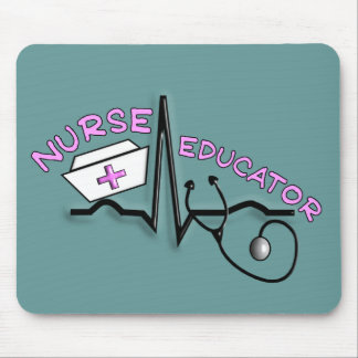 Nurse Educator QRS and Nurse Cap Design Mouse Pad