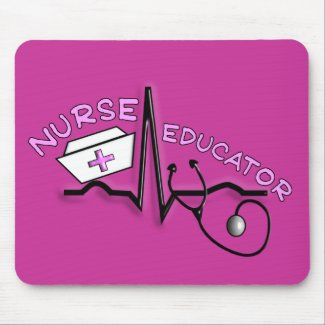 Nurse Educator QRS and Nurse Cap Design mousepad