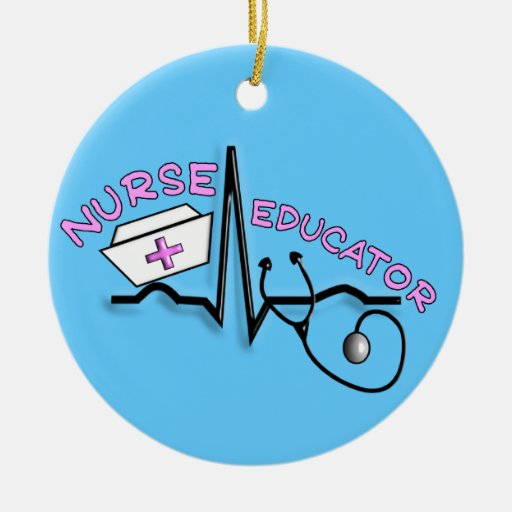 Nurse Educator QRS Design Christmas Ornament
