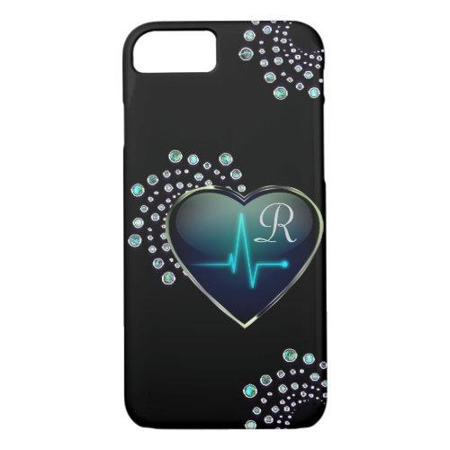 Nurse EKG heart and jewel