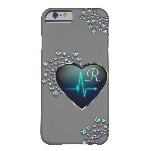 Nurse EKG heart and jewel Barely There iPhone 6 Case