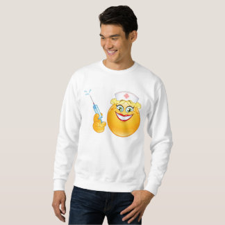 nurse emoji mens sweatshirt