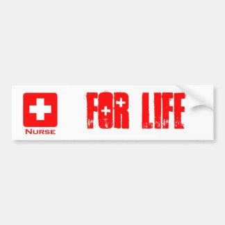 Nurse-English Car Bumper Sticker