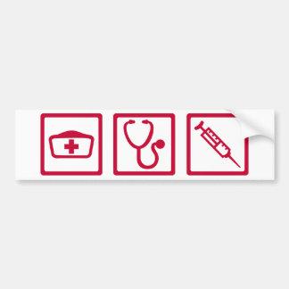 Nurse equipment bumper sticker