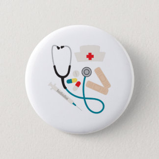Nurse Equipment Pinback Button