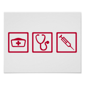 Nurse equipment poster