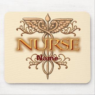 Nurse Fancy Copper Caduceus Mousepad