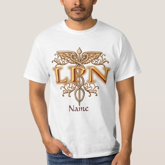 Nurse Fancy Copper LPN Caduceus mens basic t-shirt