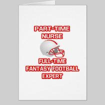 Nurse .. Fantasy Football Expert Greeting Cards