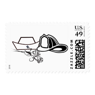 Nurse Firefighter wedding Postage Stamp