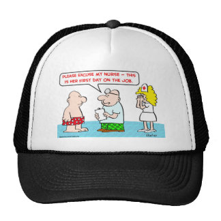 nurse first day on the job hat
