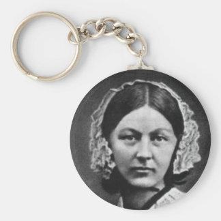 Nurse Florence Nightingale Basic Round Button Keychain