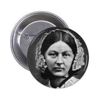 Nurse Florence Nightingale Portrait Pinback Button