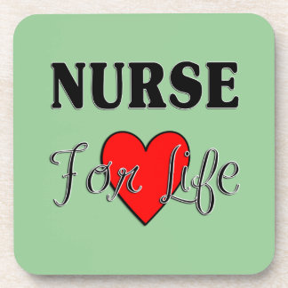 Nurse For Life Beverage Coaster