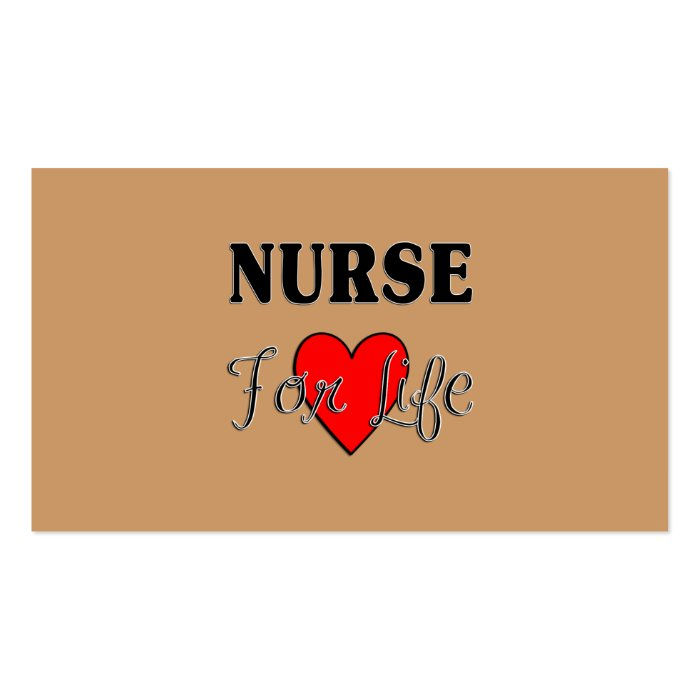 Nurse For Life Business Card