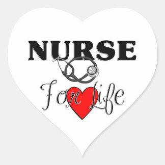 Nurse For Life Heart Sticker