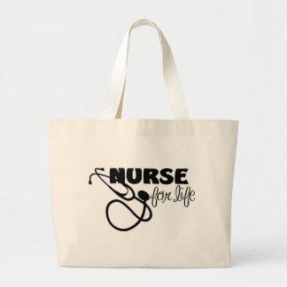 Nurse for Life Jumbo Tote Bag