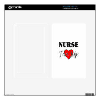 Nurse For Life Kindle Fire Skins