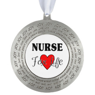 Nurse For Life Pewter Ornament