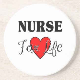 Nurse For Life Sandstone Coaster