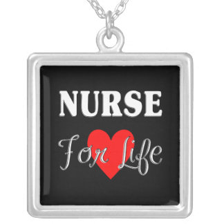 Nurse For Life Silver Plated Necklace