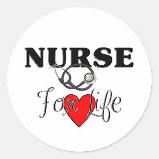 Nurse For Life Sticker