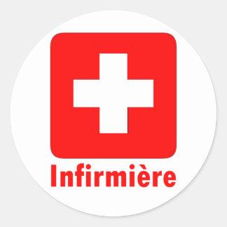 Nurse-French Stickers