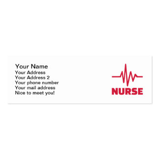 Nurse frequency Double-Sided mini business cards (Pack of 20)