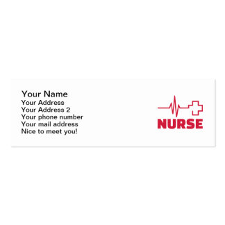 Nurse frequency cross Double-Sided mini business cards (Pack of 20)