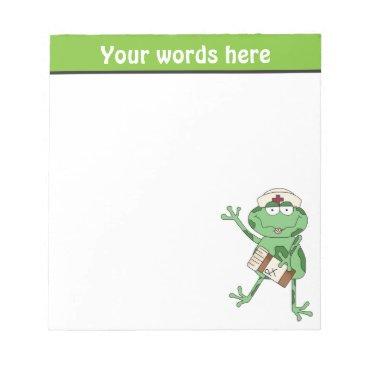 doodlesgifts Nurse Frog add words notepad