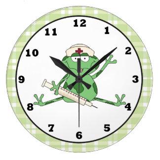 Nurse Frog clock