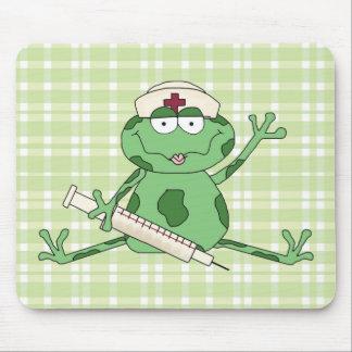 Nurse Frog Mouse Pad