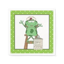 Nurse Frog party paper napkins