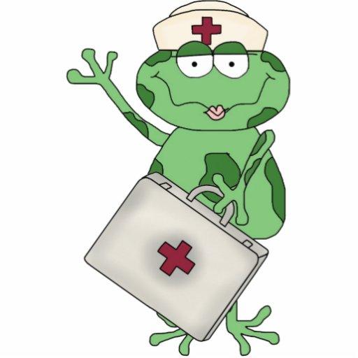 Nurse Frog Sculpture Cut Out