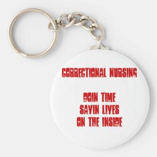 Nurse-Funny Basic Round Button Keychain