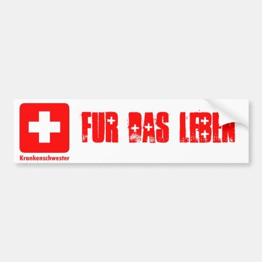 Nurse-German Bumper Sticker