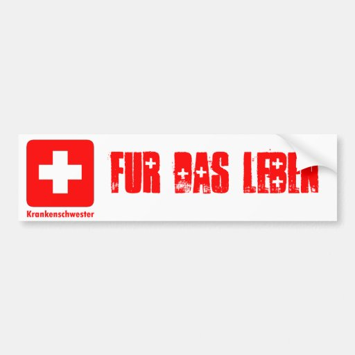 Nurse-German Car Bumper Sticker