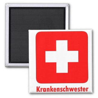 Nurse-German Refrigerator Magnet